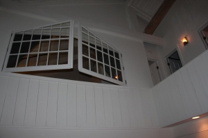 Looking up from living room to where our bedroom was